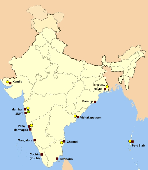 Major Seaports of India