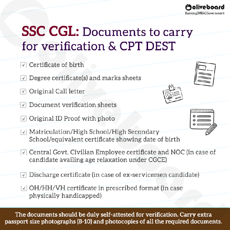 Ssc Cgl Instructions For Document Verification Cptdest Oliveboard