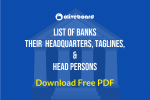 Banks, Headquarters Taglines, and Head Persons