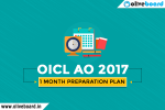 OICL 1 Month Preparation Plan
