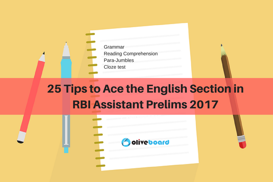 English Section in RBI Assistant Prelims 2017