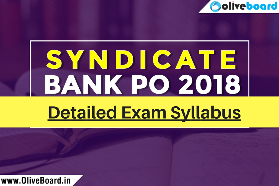 Syndicate Bank PO 2018 Exam Syllabus