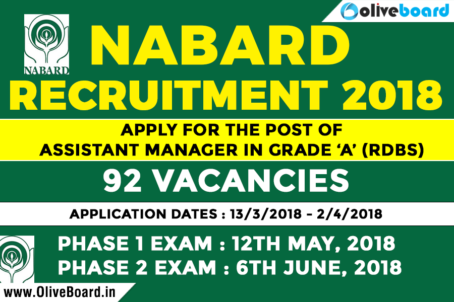 NABARD Grade A Recruitment 2018