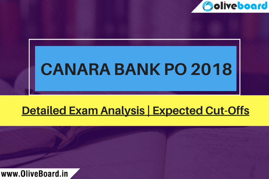 Canara Bank PO 2018 Exam Analysis