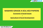 NABARD Grade A Solved Papers