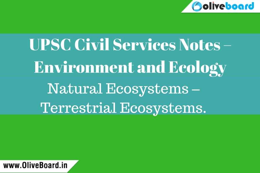 UPSC civil services notes - Environment and Ecology