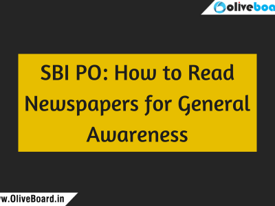 SBI PO How to Read Newspapers