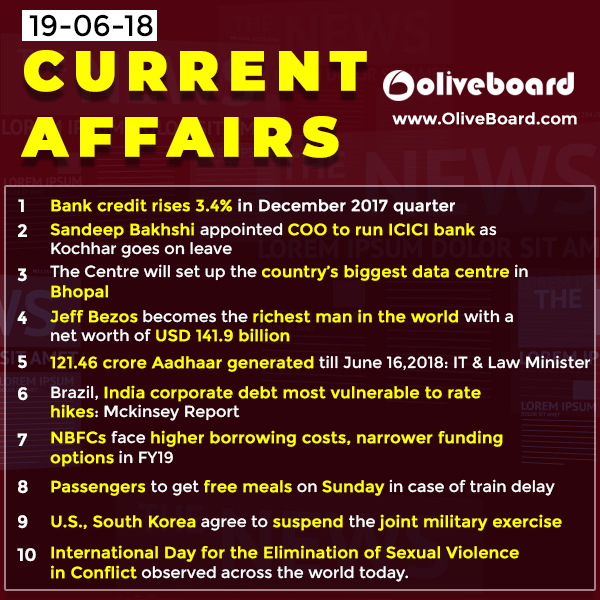 DAILY GK CURRENT AFFAIRS – 19th JUNE