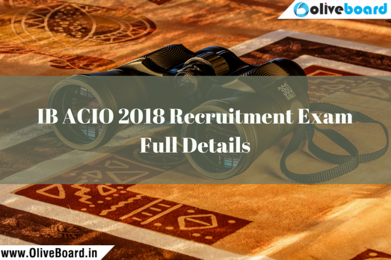 IB ACIO 2018 Recruitment Exam