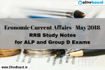 RRB Study Notes - Economic Current Affairs May