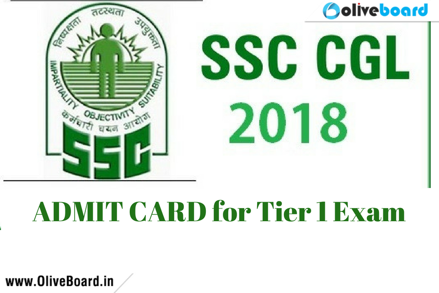 Ssc Cgl Admit Card: SSC CGL Admit Card Download For 2018 Tier 1 Exam