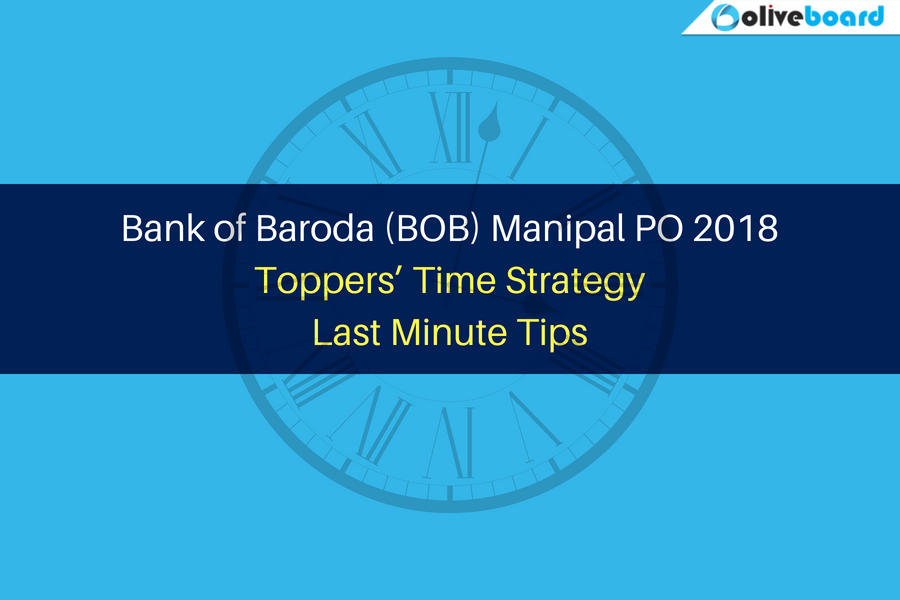 BOB PO 2018 Toppers' Time Strategy