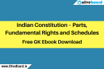 GK Ebook Indian Constitution – Parts, Fundamental Rights and Schedules
