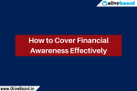 How to Cover Financial Awareness Effectively