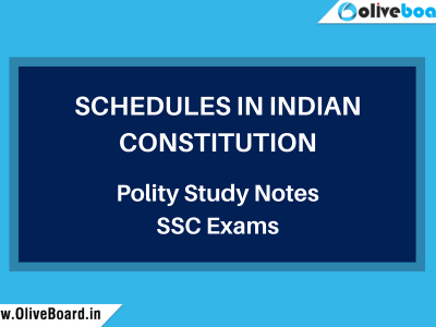 Polity Study notes SSC schedules