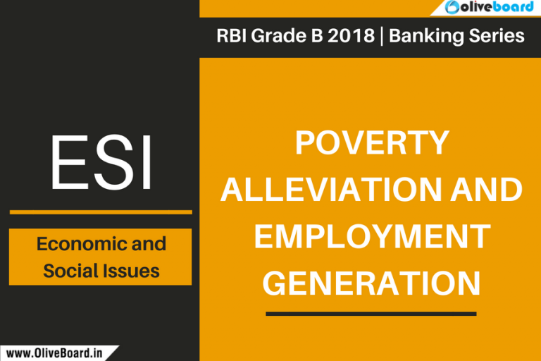 RBI Grade B 2018 Economic and Social Issues Poverty Alleviation