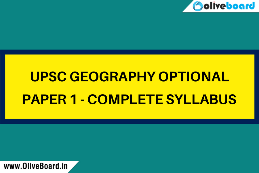 UPSC Geogrpahy optional paper 1