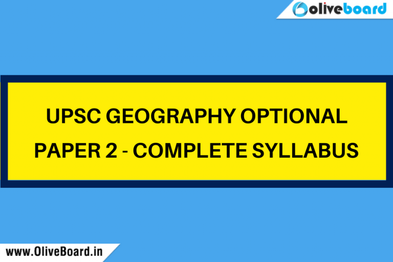 upsc geography optional paper 2