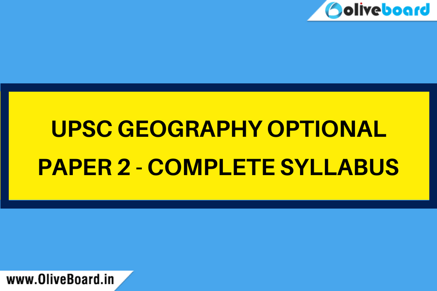 UPSC Geogrpahy optional paper 2