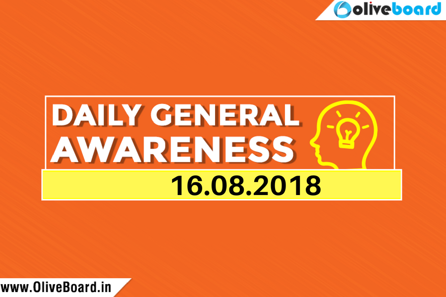 DAILY GK CURRENT AFFAIRS – 16th August 1