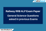 RRB ALP Exam Paper Science Questions