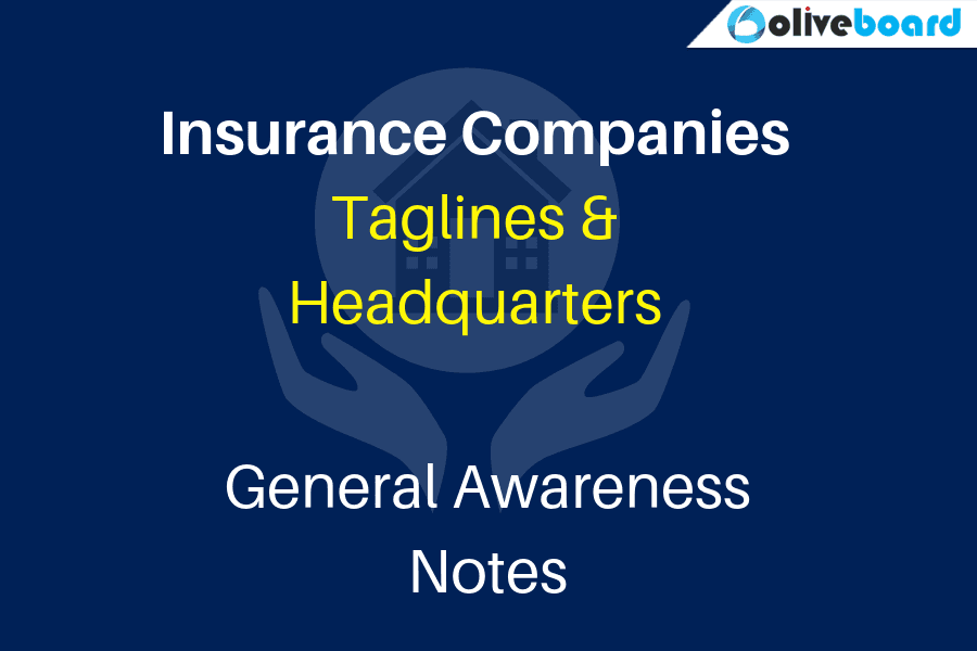 Insurance Companies: Taglines and Headquarters