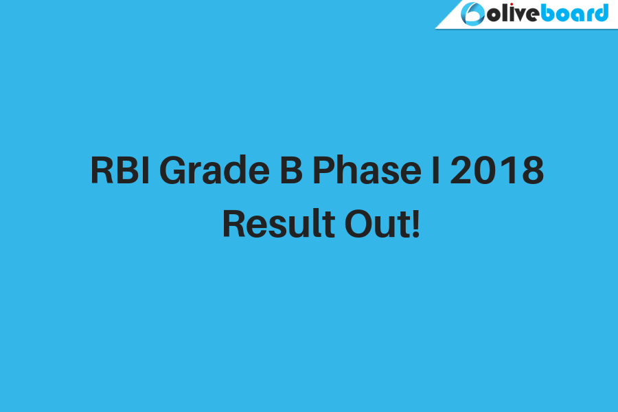 RBI Grade B Phase 1 Result Out!