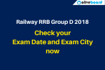 Railway RRB Group D Exam Date