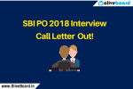 SBI PO Interview Call Letter