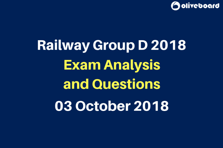 Railway RRB Group D 2018 Exam Questions 3 oct