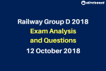 Railway RRB Group D 2018 Exam Questions and Analysis