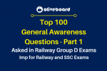 Railway RRB Group D Exams part 1 Questions