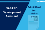 NABARD Development Assistant Mains Admit Card