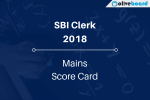 SBI Clerk Mains Score Card