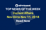 Current Affairs from Nov 05 to Nov 11 2018