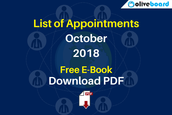 List of Appointments October