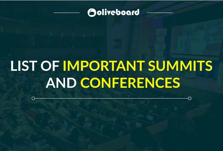 Important Summits and Conferences
