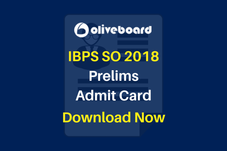IBPS SO Prelims Admit Card