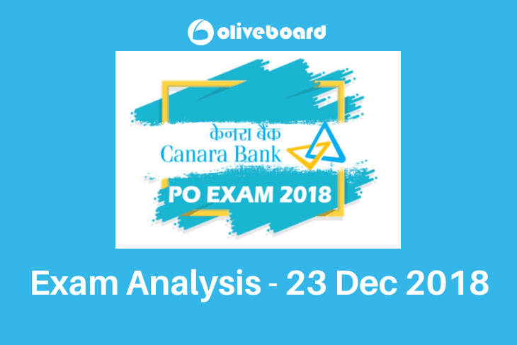Canara Bank PO Exam Analysis 23 Dec