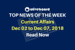 Current Affairs from Dec 02 to Dec 07 2018