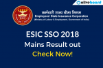 ESIC SSO Mains Result 2018