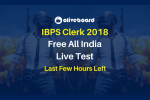 IBPS Clerk 2018 Live Test 5 Dec