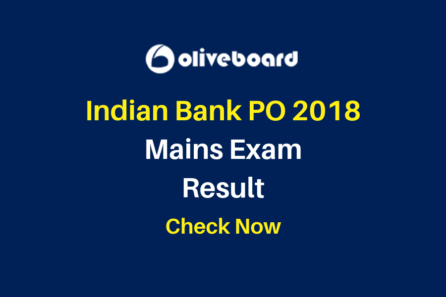 Indian Bank PO Mains Result 2018