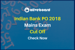 Indian Bank PO Mains Cut Off 2018