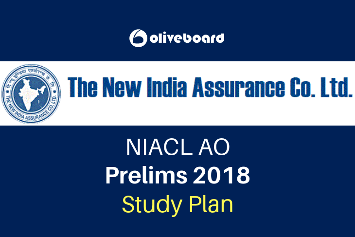 Study Plan for NIACL AO 2018