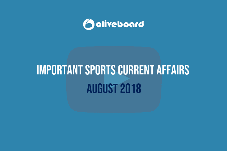 Sports Current Affairs August 2018
