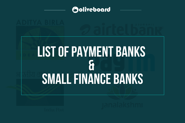 Payments Bank and Small Finance Banks