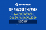 Current Affairs from Dec 30 to Jan 04 2019