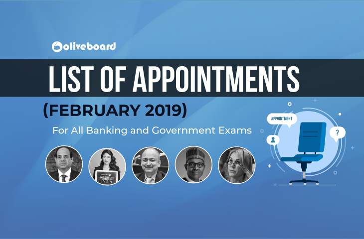 Appointments February 2019