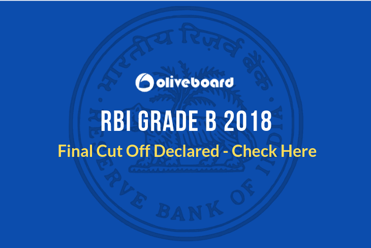 RBI Grade B 2018 Final Cut Off